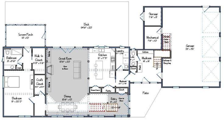 Bancroft Barn Home Open Concept Floor Plans And Open Concept
