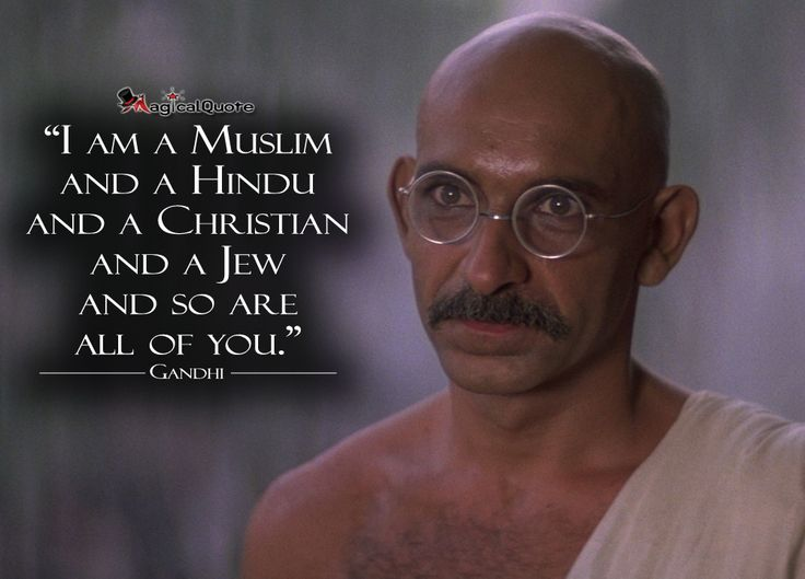 Quotes By Gandhi On Unity : Gandhi i am a muslim and hindu christian