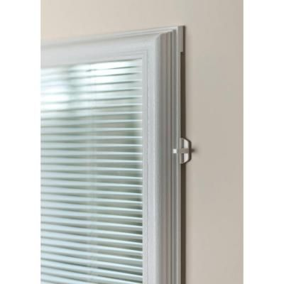 odl 20 in x 64 in add on enclosed aluminum blinds white steel