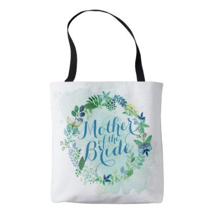 Mother of the Bride Watercolor Tote Bag - wedding shower gifts party ideas diy cyo personalize