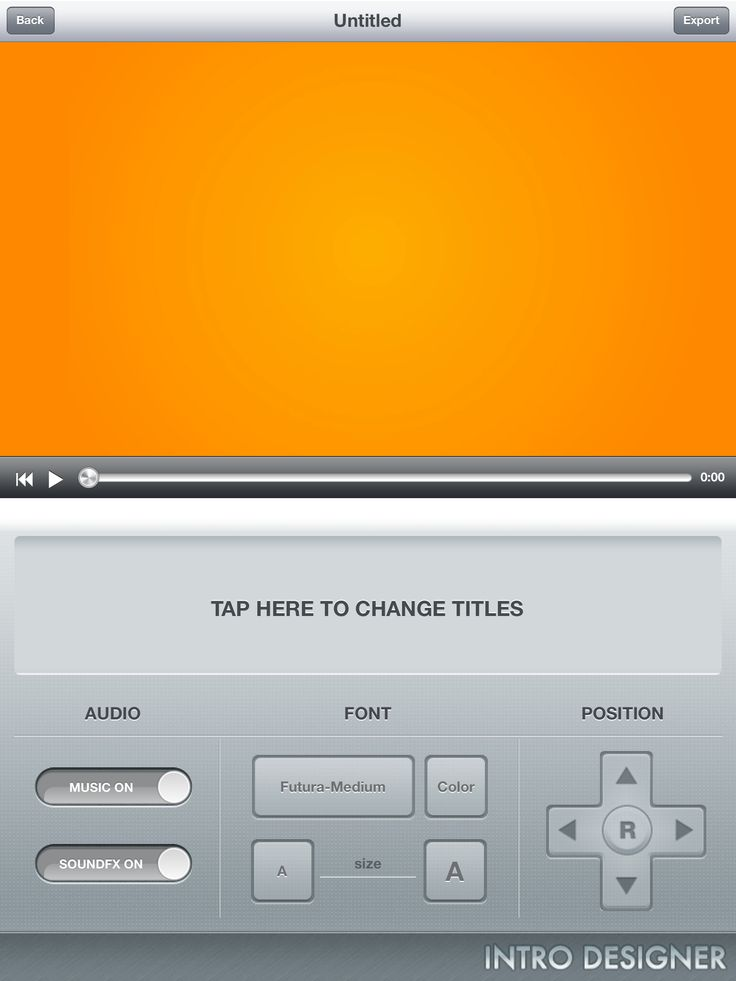 Intro designer for ipad free imovie video effects on ios for Imovie intros templates