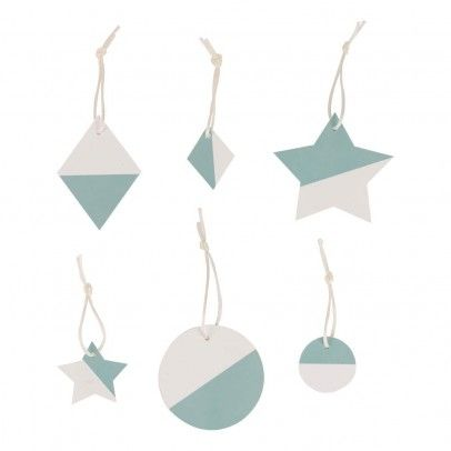 My Little Day Christmas Decoration, Turquoise - Set of 6 `One two-tone * Details : 6 Christmas Decoration(s) * Fabrics : Cardboard * from 3.5 to 7 cm. * Made in : France http://www.MightGet.com/january-2017-13/my-little-day-christmas-decoration-turquoise--set-of-6-one.asp