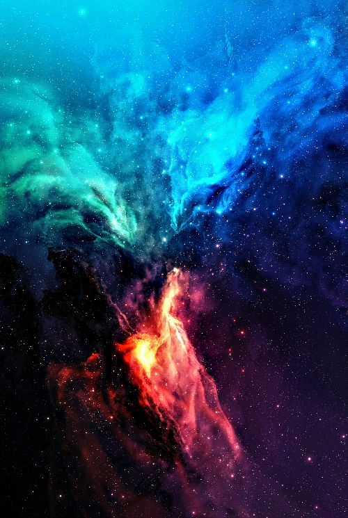Rainbow bird nebula. See that blue star on the top ... see how it just sparkles at you ... how it just ignites your inner self....