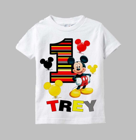 Mickey Mouse Birthday Shirt Mickey Mouse Shirt by funfashionsetc