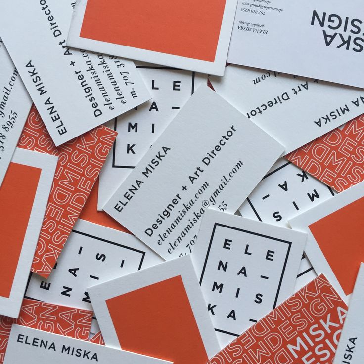 Old and and current business cards! // Elena Miska | branding ...