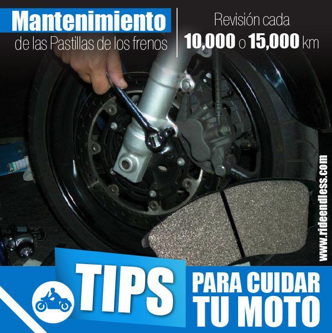 El mantenimiento de las pastillas de los frenos de nuestra moto es muy importante, pues de su correcto funcionamiento depende nuestra seguridad.  Se recomienda hacer una revisión cada 10.000 o 15.000 kilómetros, dependiendo de tu ciudad y de tu forma de conducir.  #RideEndless #Tips #BMW #Motorrad #moto #TipRideEndless
