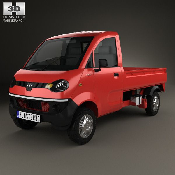 Mahindra Jeeto 2015 3D model | Mahindra 3D Models | Model, Monster