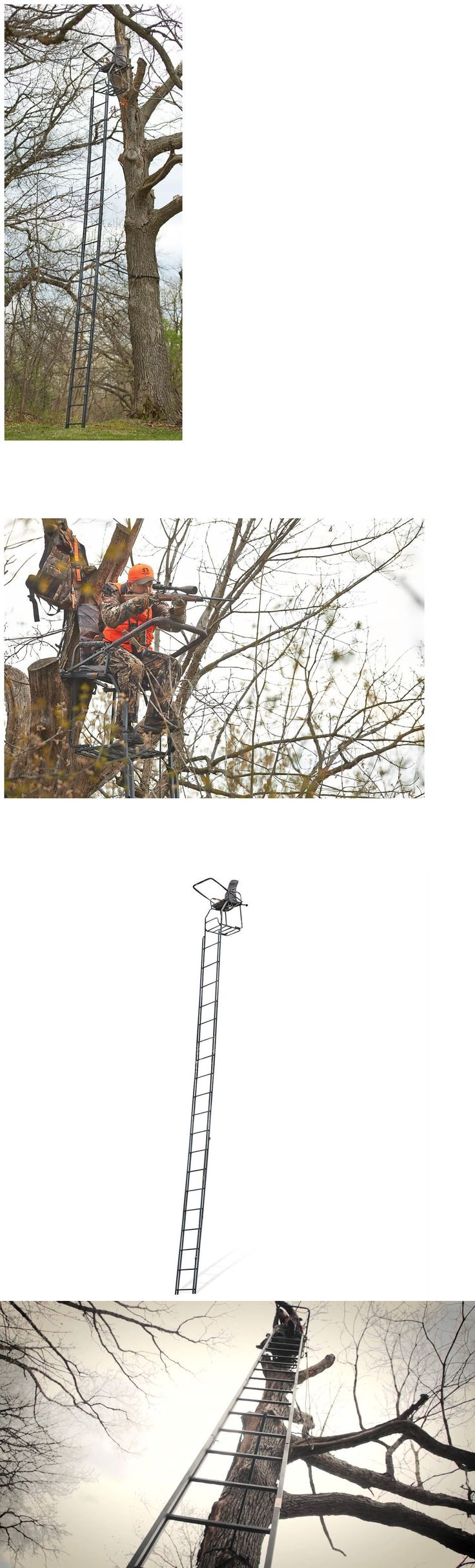 Tree Stands 52508: Ladder Tree Stand 25 Deluxe Double Rail Deer Season Fall Bow Gun Rest -> BUY IT NOW ONLY: $194.99 on eBay!