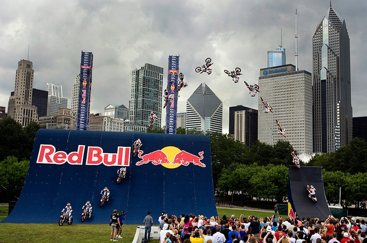 Red Bull Big Air action sequence