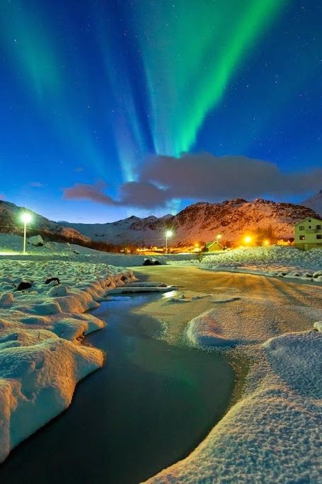 Северное сияние в Норвегии  #красота #пейзаж #природа #photography #nature #amazing #new #pictures #beautiful #naturek #landscape #beauty