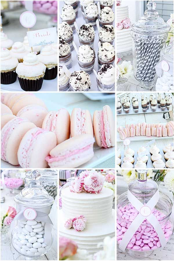 cute finger foods for bridal luncheon or as a dessert buffet at the reception