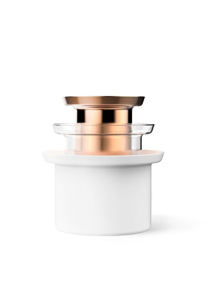 FLUE is a minimalist design created by Taiwan-based designer Kenyon Yeh. Flue is simple and minimalistic containers, it has three different size and each piece is made of different material. (1)