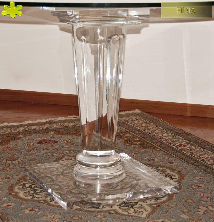 COLONNE IN PLEXIGLAS | Colonna in plexiglas 02.mod.  FIDIA | Colonne plexiglass fusto diam.cm.20 - piani cm.50 x 50 sp.cm.4 - h.tot.cm.75