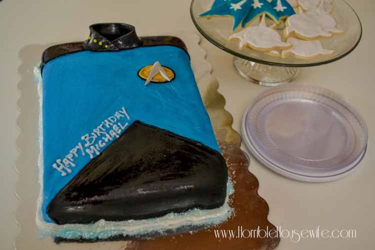 Themed cake for a Star Trek: The Next Generation party