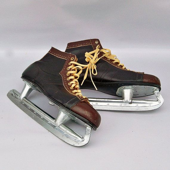 Vintage Jack Riley Signature Series Ice Skate  by leapinglemming Read entire description of these skates, great story