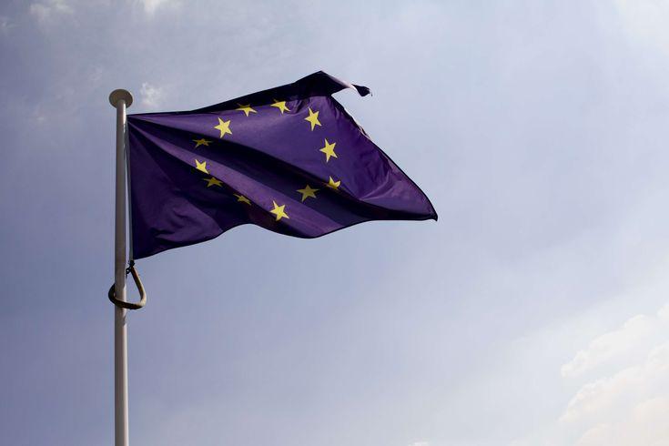 #blue #blue sky #european flag #flag #wind