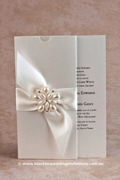 Ocean Pearl: Invitation  http://blacktieweddinginvitations.com.au/galleries/premium-wedding-invitations/ocean-pearl