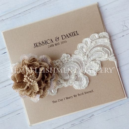 Burlap flowers and lace by Embellishment Gallery® AUSTRALIA