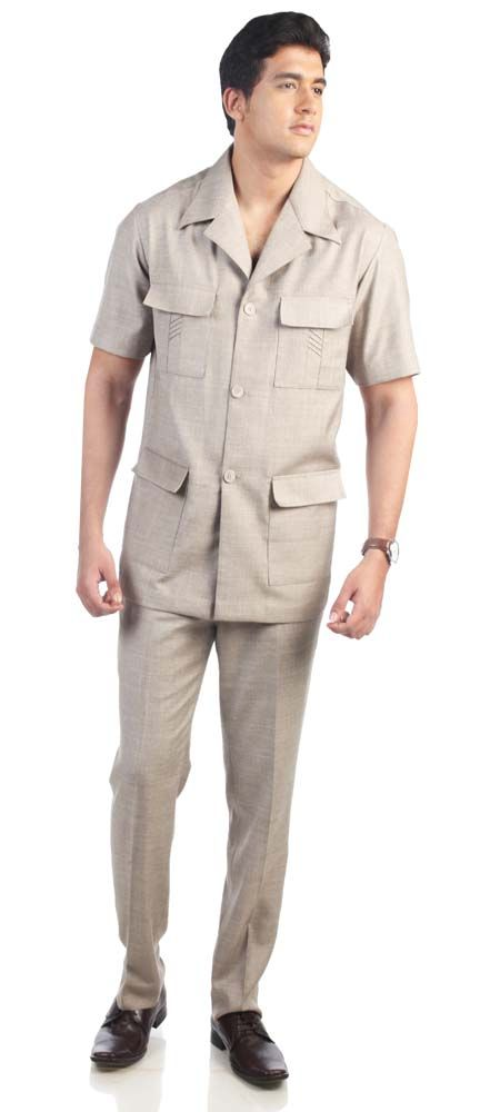 Safari suit has made a great comeback for men who want to opt for subtle choices and prefers to go for neutral earthy shades and neutral styling. Even though the latest fashion magazines would suggest you wearing colorful prints and patterns.