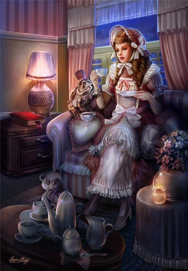 Elizabeth and the Toad by PinkParasol - Illustrations by Annie Stegg  <3 <3
