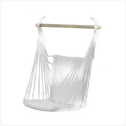 "Cotton Padded Swing Hammock Chair (343021000001) Features soft cotton padding for exceptional comfort Can be used indoors or out Ideal to hang in the porch or from a branch Chair is 38"" x 17 3/4"" x 52"" high Makes an excellent gift idea!"