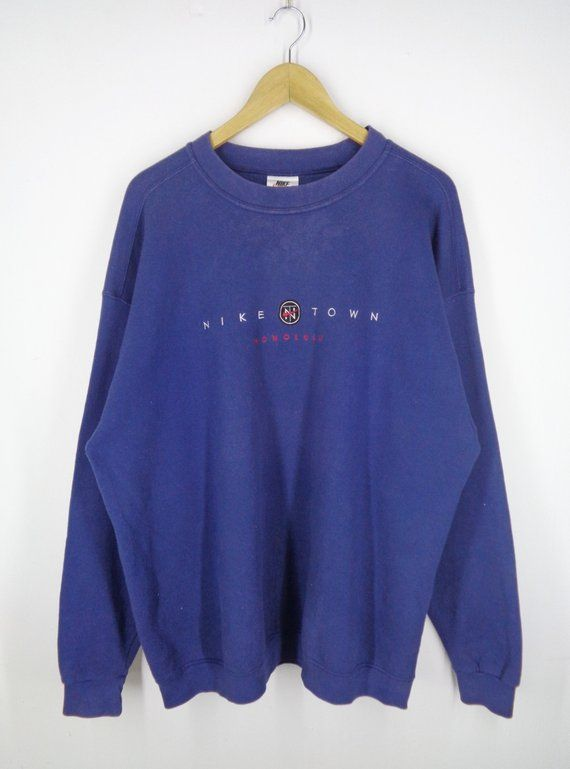 8434468a2f4abc Nike Sweatshirt Nike Pullover Men s XL Vintage 90 s Nike Town Honolulu  Sweater Nike Vintage Made in USA