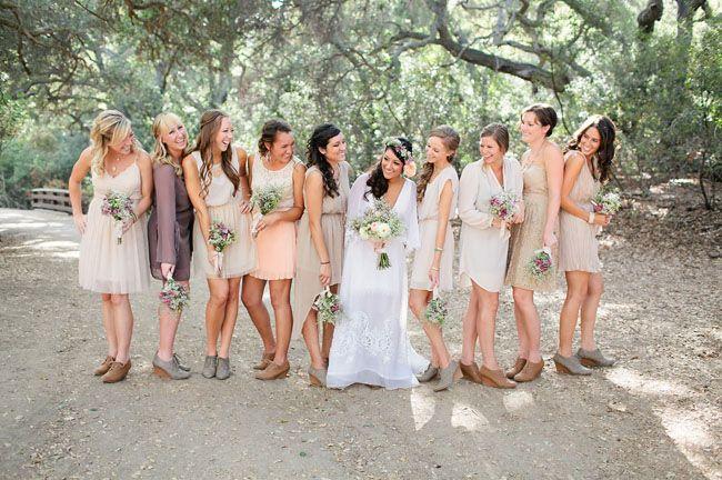 Eco-Friendly Boho Wedding: Jessica   Kevin  Bridesmaid Boho ...