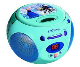 Radio/Radio-réveil Lecteur CD MP3 spécial Reine des Neiges à l'effigie des héros du dessin animé!