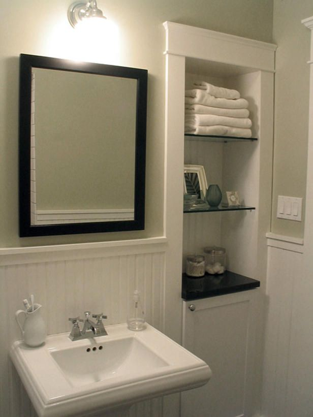 118 best Recessed Shelving Ideas images on Pinterest | Bathroom ...