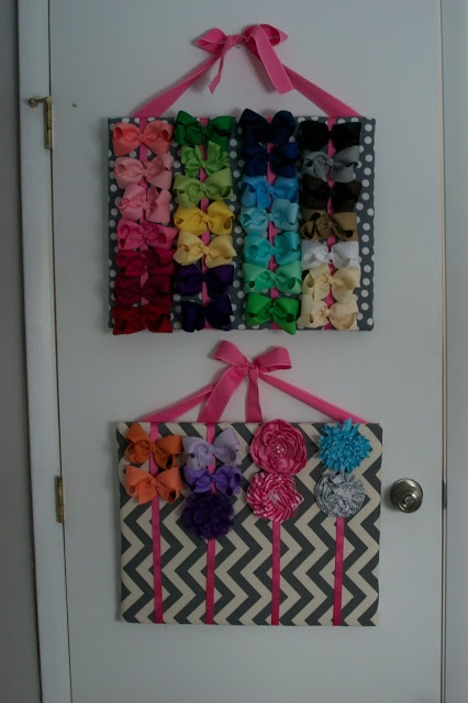 How to make a canvas bow holder