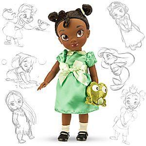 Disney Poupée Animator Tiana | Disney StorePoup�e Animator Tiana - Nos artistes Disney Animators ont imagin� l'h�ro�ne de La Princesse et la Grenouille en petite fille. Cette jolie poup�e Animator Tiana porte une robe en satin � manches ballon. Elle est accompagn�e d'une grenouille en peluche.