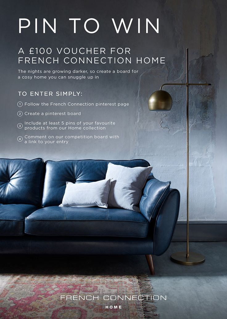 To enter, pin 5 of your favourite French Connection Home products and comment on the competition image with a link to your board. The pinner of our favourite board will receive £100 to spend at French Connection Home. The winner will be announced on December 11th 2015. Good luck!