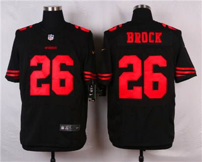 0a3f60ba6 ... Mens NFL Road Nike San Francisco 49ers 26 Tramaine Brock Black Alternate  Elite Jersey .