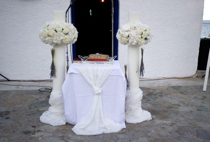 romantic wedding with white peonies,hyndrangeas and levander
