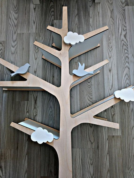 Tree Bookshelf Tree Shelf Tree Bookcase Wooden