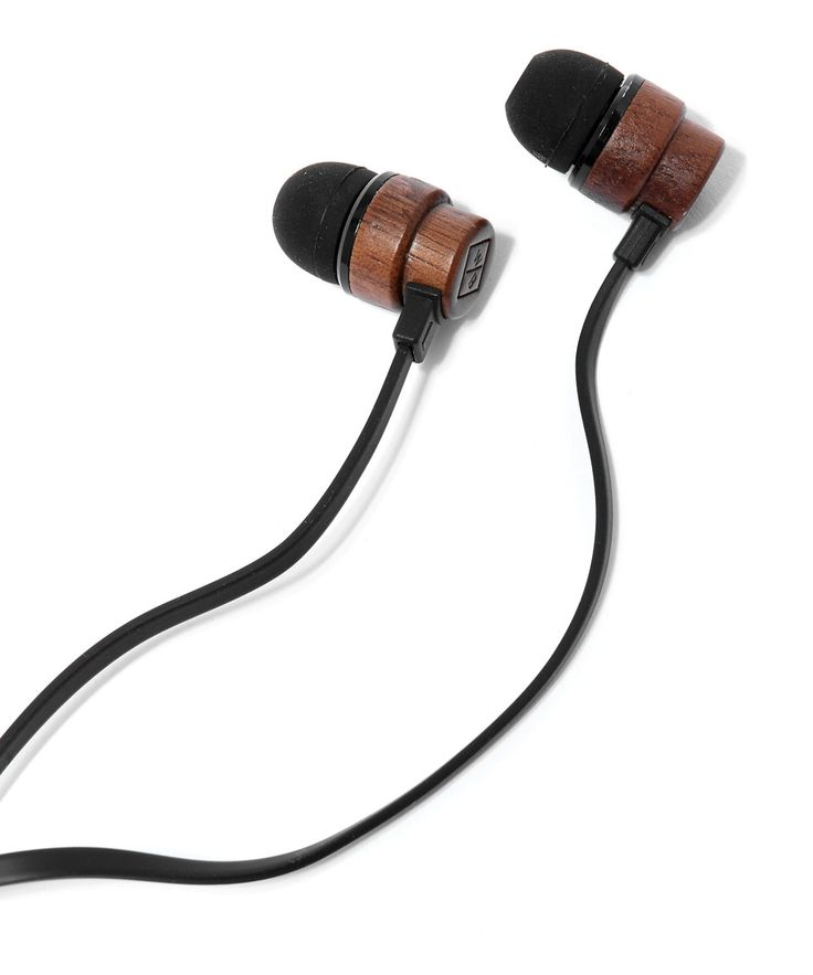 Woodbuds Black In-Ear Headphones http://bit.ly/1OxDH05