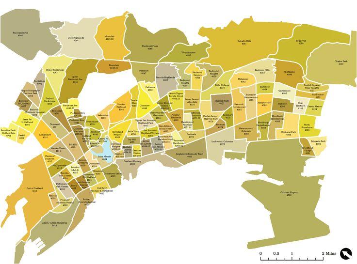 oakland california neighborhood map Google Search