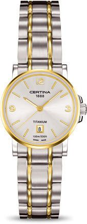Certina Watch DS Caimano Lady Quartz #bezel-fixed #bracelet-strap-titanium #brand-certina #case-material-titanium #case-width-27mm #classic #date-yes #delivery-timescale-7-10-days #dial-colour-silver #gender-ladies #movement-quartz-battery #official-stockist-for-certina-watches #packaging-certina-watch-packaging #style-dress #subcat-ds-caimano #supplier-model-no-c017-210-55-037-00 #warranty-certina-official-2-year-guarantee #water-resistant-100m