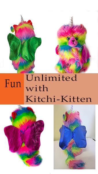 A lovely soft plush toy. Sits 30cm tall & with a choice of 8 different wing colors & a fluffy hat in 3 sizes.  purchase safely website direct. Delivery worldwide.