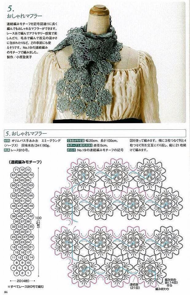 Mejores 219 imágenes de sueña...bufandas 3 en Pinterest | Patrones ...