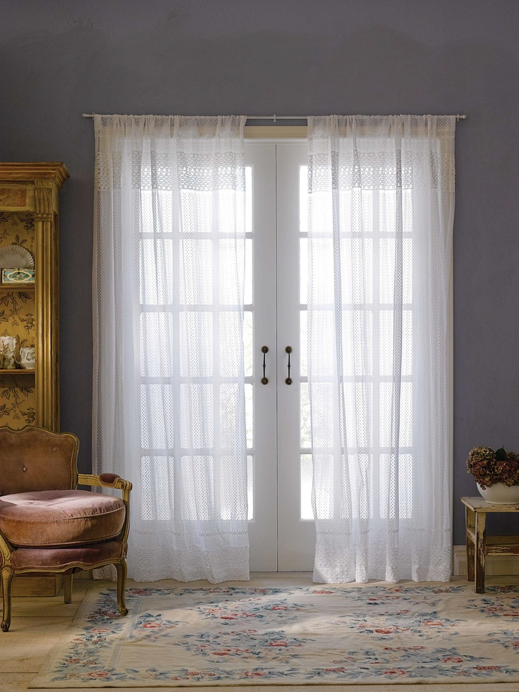 Lace Curtains, Door Entry, Window Panels, French Doors, Simply Shabby Chic,  Easy Crafts, Babies Rooms, Window Treatments, Portal
