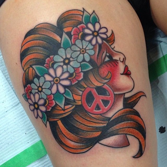 Inspirational Hippie Tattoo By Don Ritson