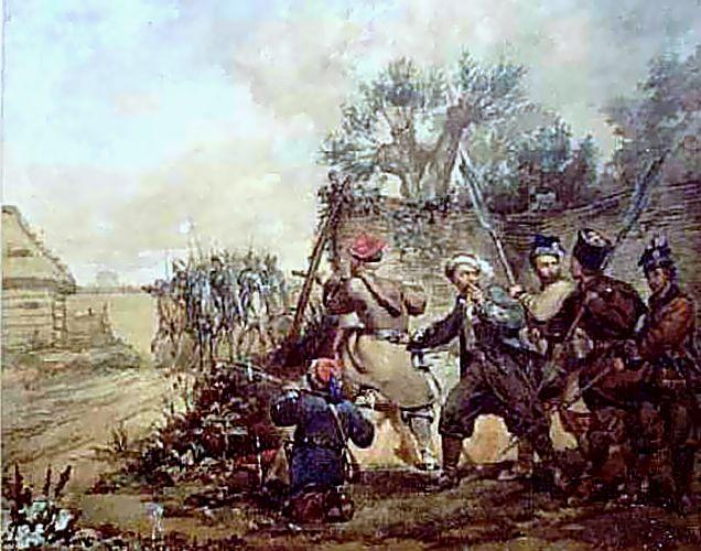 Żuawi Śmierci w bitwie pod Miechowem