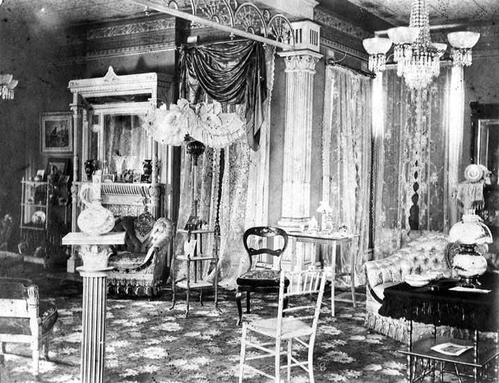 1900 Home Interiors | interior of the frederick hanger house an 1889 queen anne house in ...