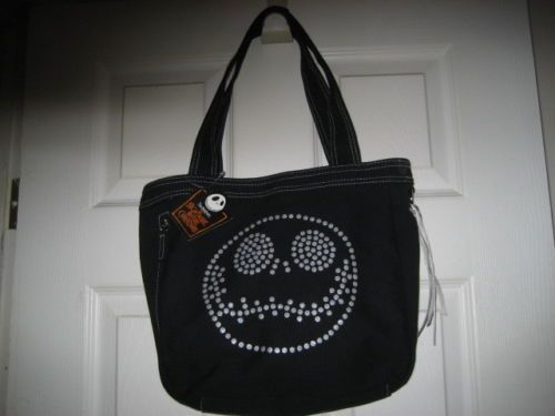 Tim Burton's Nightmare Before Christmas Tote Bag NWT w/Jack's Face Black Bag