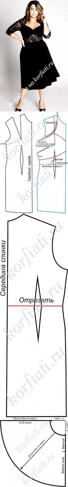 Выкройки платьев для полных: вечернее платье / Прочие виды рукоделия / Шитье