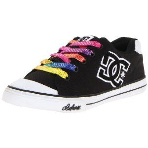 DC Chelsea Canvas Youth Girls US Size 5 Black Canvas Skate Shoes: Amazon.ca: Sports & Outdoors