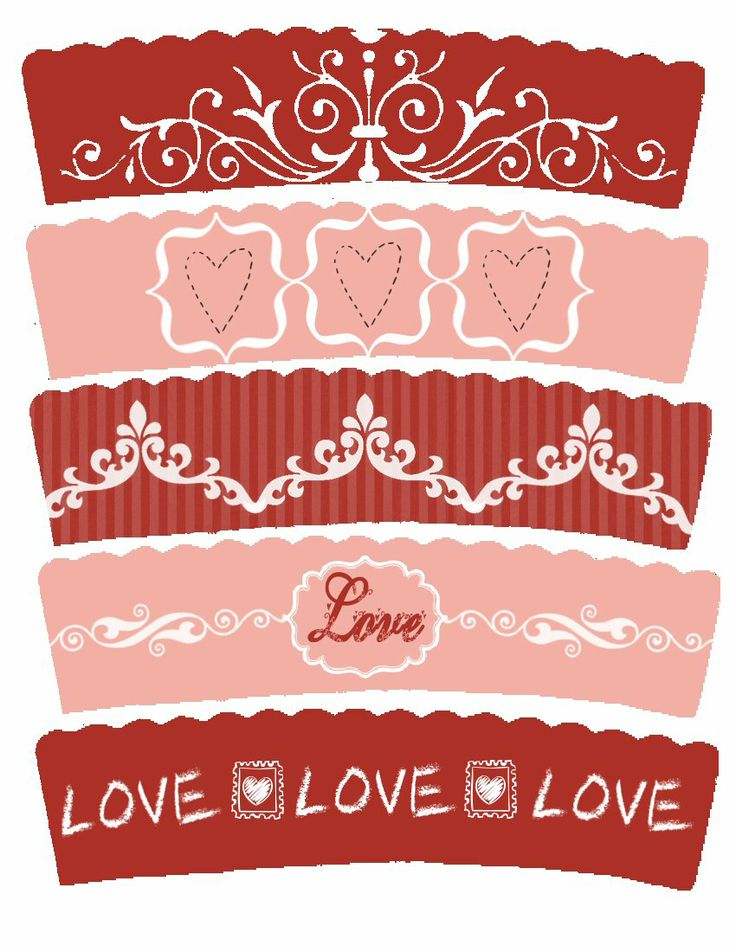 Food Art Party: Valentine's Day Freebie Cupcake Wrappers Printables