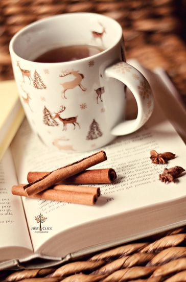 tea, books and cinnamon: perfection combined!