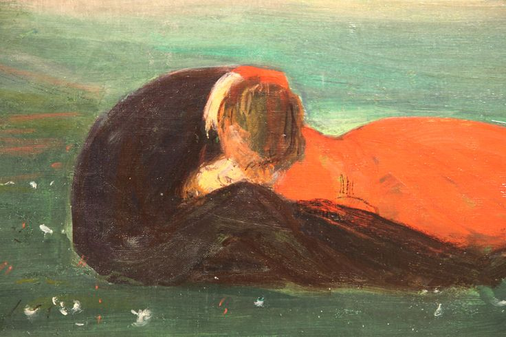 Wojciech Weiss, Pocałunek na trawie | 1899, Muzeum Narodowe w Poznaniu